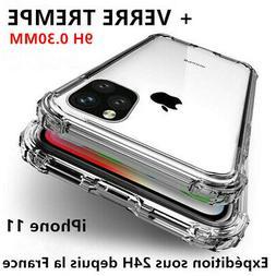 Coque Silicone +Verre Trempé iPhone 12/11 Pro MAX/X/XR 6/7/