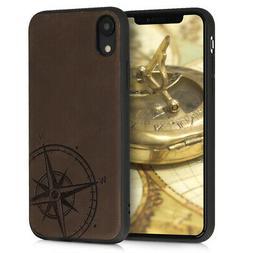 Coque en cuir véritable pour Apple iPhone XR