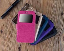 Coque Housse Livre Fenêtre Huawei Y6/ Honor 4A/ Orange Dive