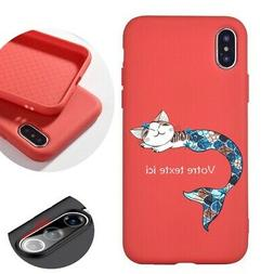 Coque rose corail Iphone 11 chat sirene personnalisee