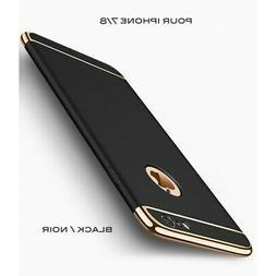 iPhone 7 iPhone 8 coque Ultra fine 3 en 1 en PC dur Noir